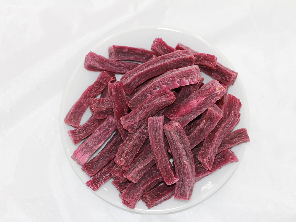 Pet food purple fries